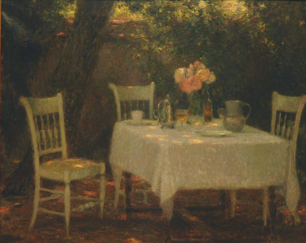 La Table au jardin, Gerberoy, 1902