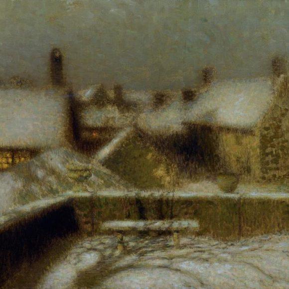 La Terrasse, neige, Gerberoy, 1902