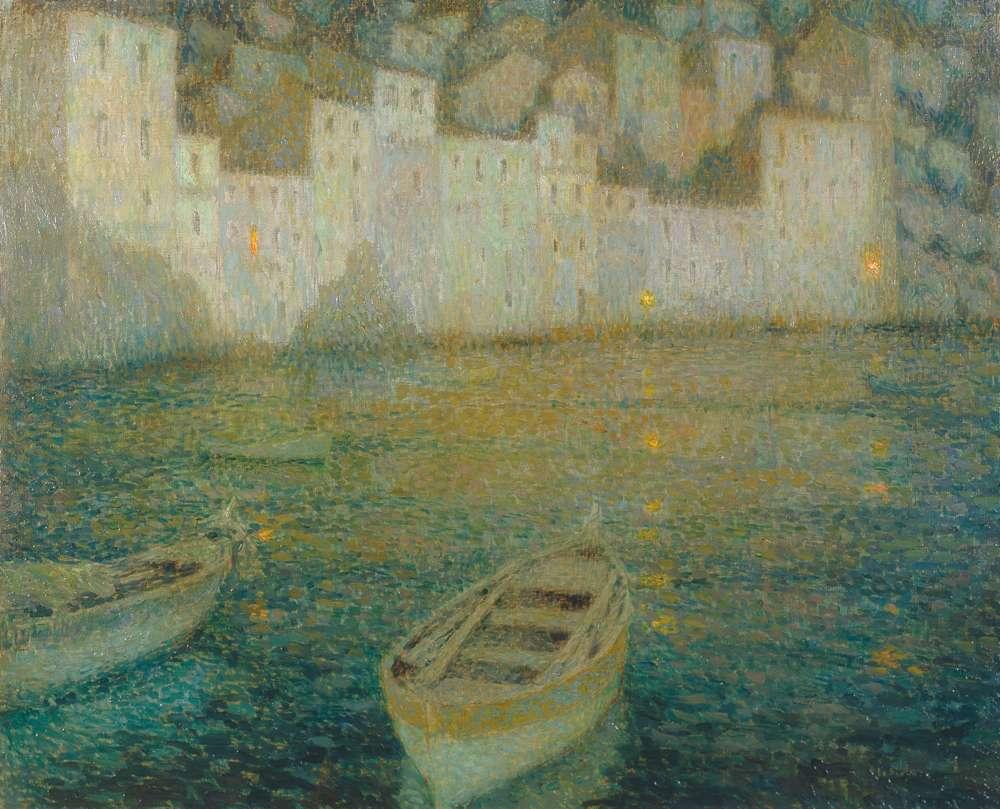 Les Maisons du port au clair de lune, Villefranche-sur-Mer, 1924