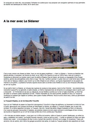 13. leParisien.fr. A la mer avec Le Sidaner - 01_06_2014 visuel