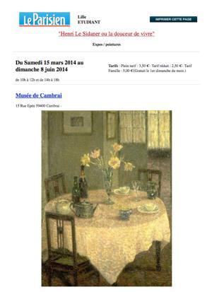 Le Parisien Etudiant. Henri Le Sidaner ou la douceur de vivre visuel