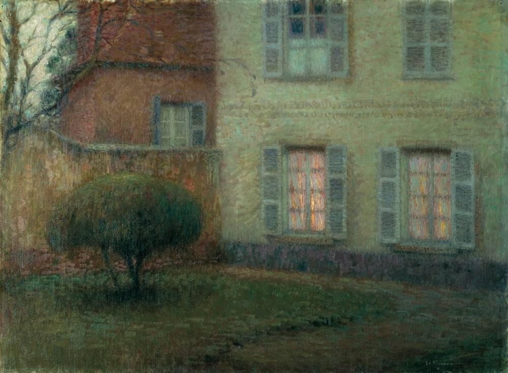 Fenêtres éclairées, Beauvais, 1900