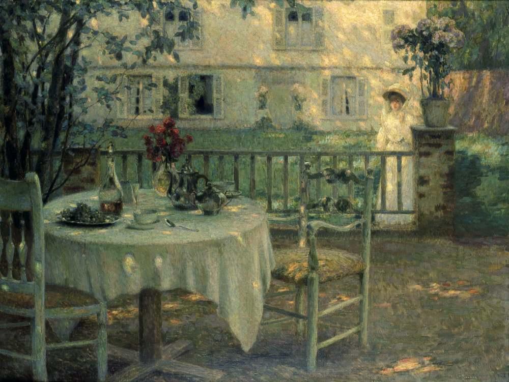 L'Après-midi, la table dans le jardin, Gerberoy, 1904