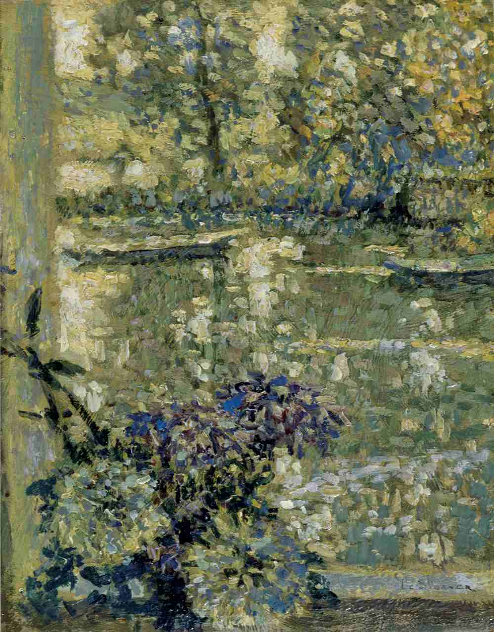Fenêtre sur la rivière, Montreuil-Bellay, 1914