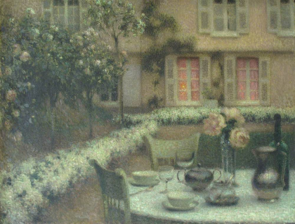 La Table au jardin blanc, Gerberoy, 1906
