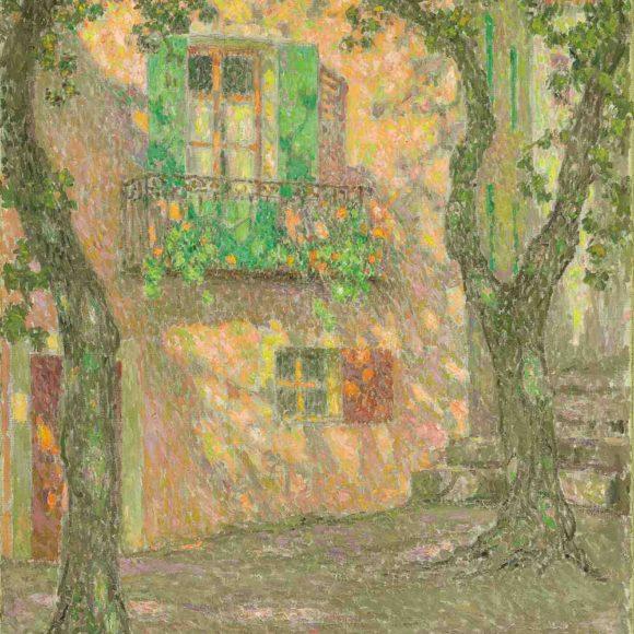 La Fenêtre aux géraniums, Villefranche-sur-Mer, 1925