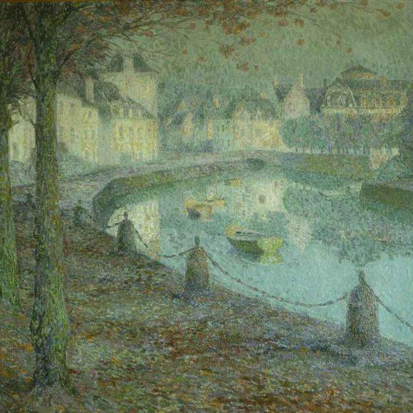 La Petite ville au matin, Quimperlé, 1919