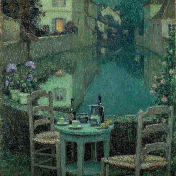 Petite table sur la rivière au crépuscule, Nemours, 1921
