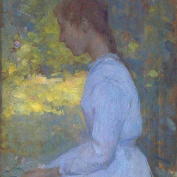 Jeune fille de profil, Étaples, 1892