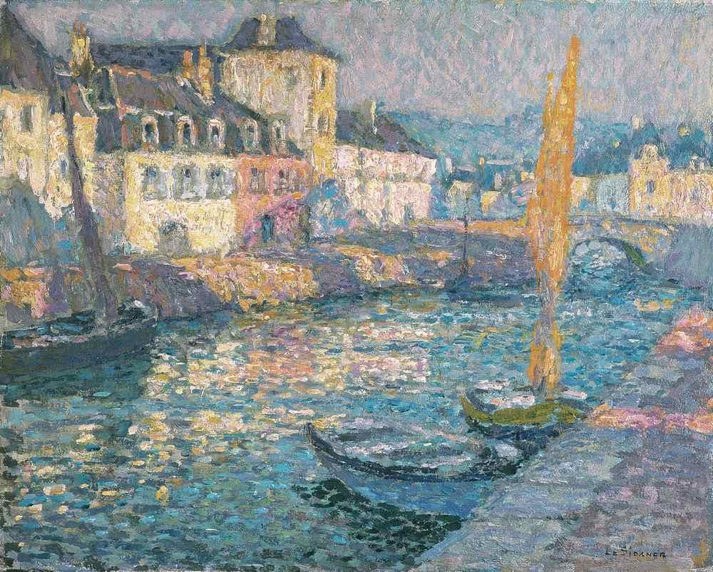 Le Petit port, matin, Quimperlé, 1920