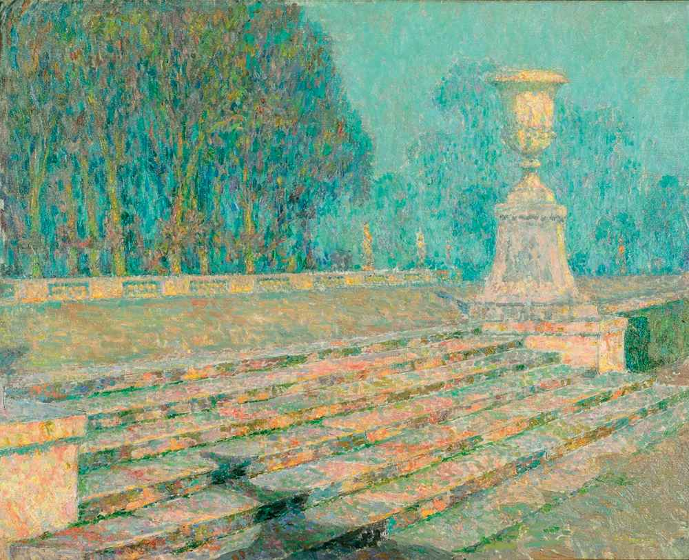 Les Marches de marbre rose, Versailles, 1921