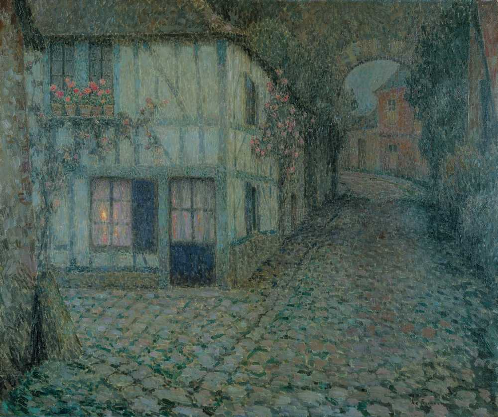 Vieille rue au crépuscule, Gerberoy, 1924