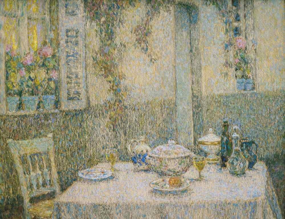 La Table blanche, Gerberoy, 1920