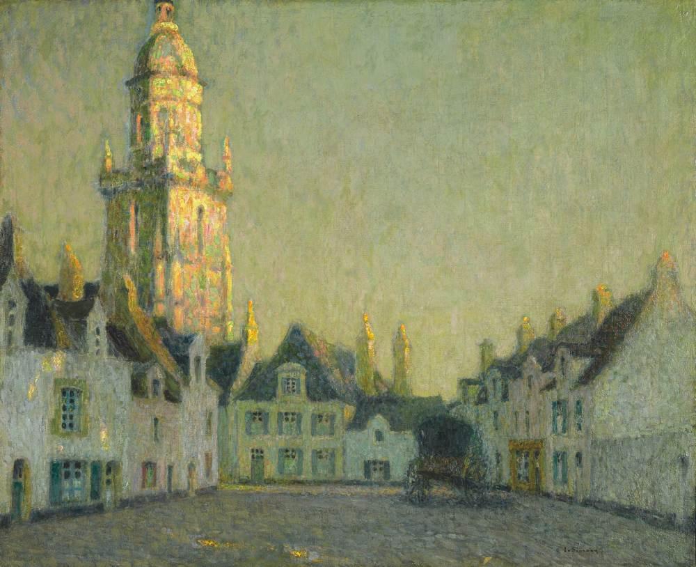 Les Maisons et le clocher, Le Croisic, 1923