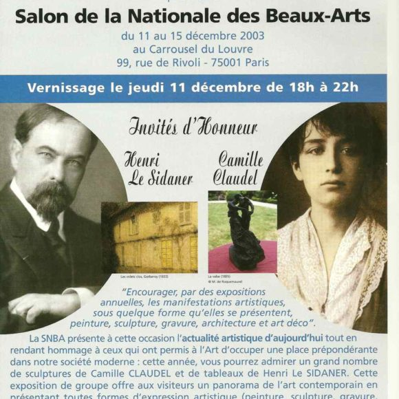 Salon de la Nationale des beaux-arts. Hommage à Camille Claudel et Henri Le Sidaner